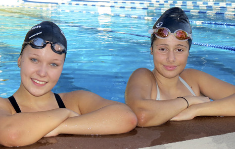 Exchange students feel at home on swim team
