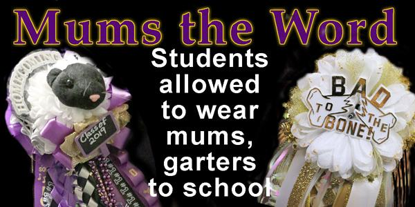 Mums, garters allowed during school day