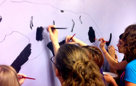Art Club paints panther mural