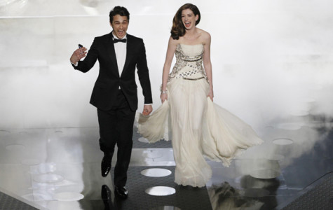 James Franco and Anne Hathaway enter the stage during the 83rd Annual Academy Awards at the Kodak Theatre in Los Angeles, California, on Sunday, February 27, 2011. (Robert Gauthier/Los Angeles Times/MCT)