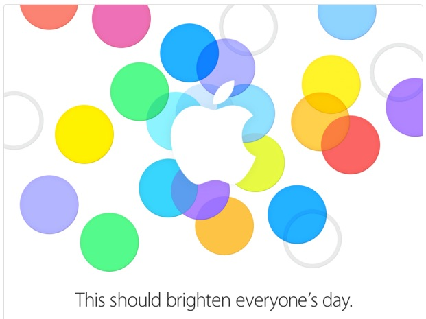 Apple's press event invitation promised bright futures for iPhone users.