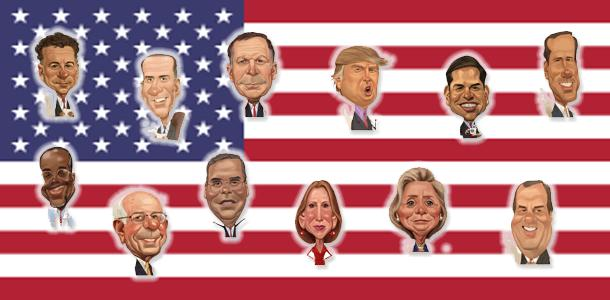 Chris Ware caricatures of candidates (MCT)