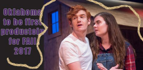 Philip Calloway and Rebecca Hill share a seen as the leads in Oklahoma.