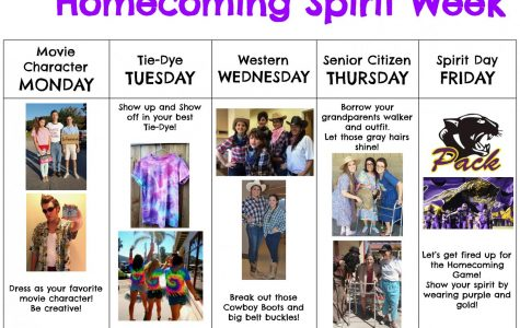 Dress themes announced for Homecoming Spirit Week 2018