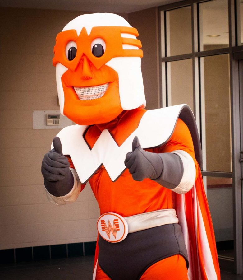 Whataguy lands at LHS to give Special Education Department a boost from Whataburger