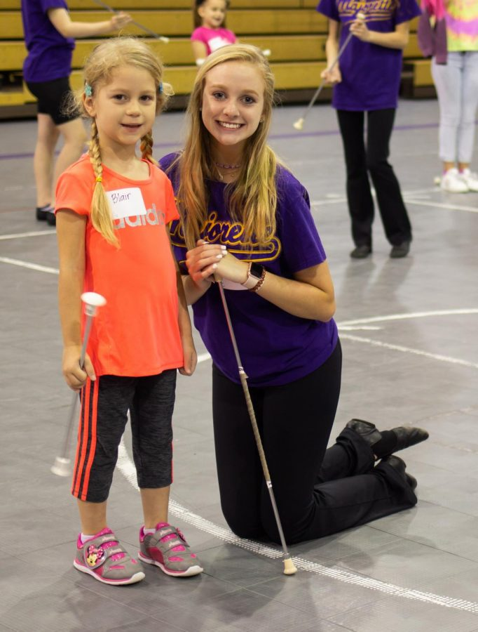 Twirlers in training: Lufkin High School hosts 'mini majorettes' camp
