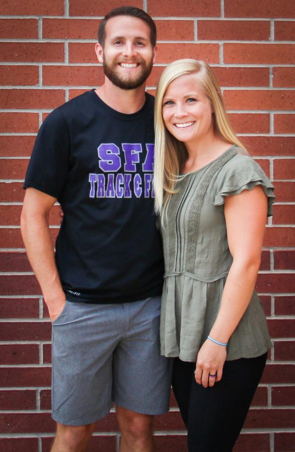 Hunter Russell, head coach of the cross country team, and Kirstie Russell, the new cheer coach, came to Lufkin High School as a package deal. (Photo by STORI THOMAS/Lufkin High School Panther Growls)