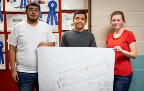 Drafting students draw up plans for LISD bus barn