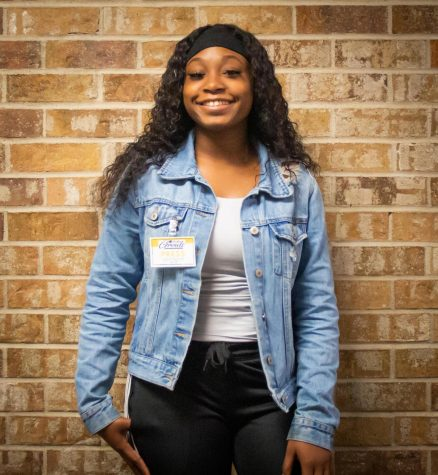 Ja'zareia Duhon, a member of the Panther Growls staff, is in her first year at Lufkin High School. (Photo by ANA RODRIGUEZ/Lufkin High School Panther Growls)