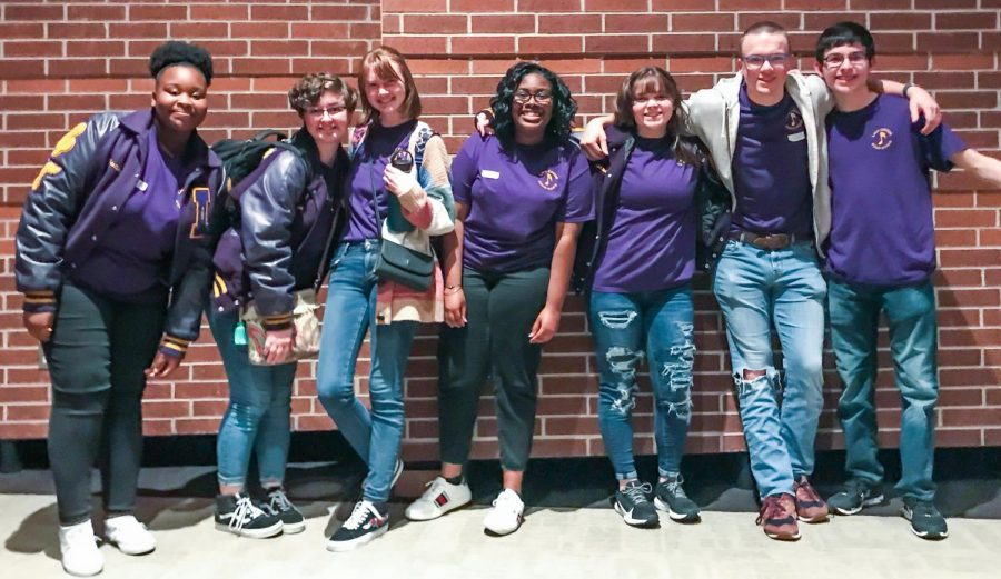 Lufkin High School Choir students who have advanced to Area competition include JaNyla Wilkerson, Koryn Currier, Paige Hoelewyn, Jaylen Sowell, Samantha Standley, Graham Childers and Adam Awtrey. (Photo courtesy of Choir Director Nicole Stewart)
