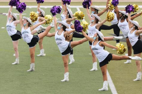 The Panther Pride drill team practices on the turf of John Outlaw Memorial Field at Abe Martin Stadium. (Photo by ANDY ADAMS/Lufkin ISD)